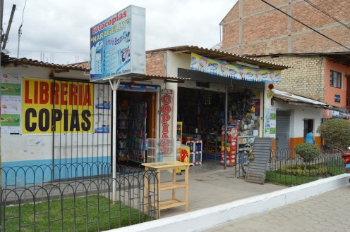 Main Shopping Drag in Baños