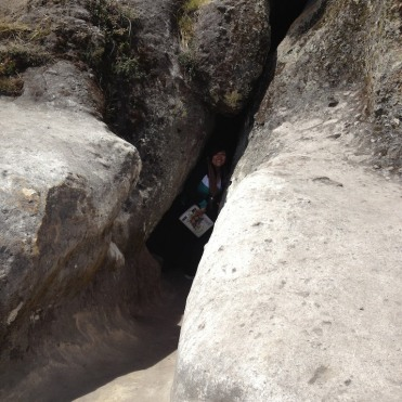 Maribel Exiting Cave