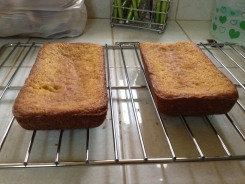 Flat cakes (I also miss my cooling rack; note the oven rack substitute)