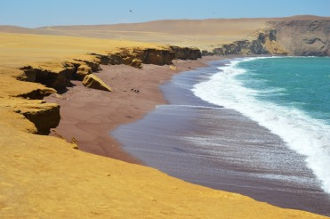 Blue Water, Red Beach, Yellow Bluff