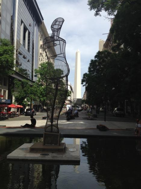 Statue and Obelisk