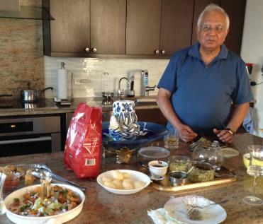 Jatin enjoying the spread