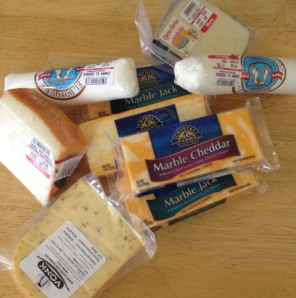 Cheese! Of course, a third of  my purchases has already been eaten in the past week.