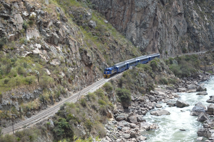 Train along the river
