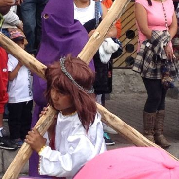 Child Carrying Cross