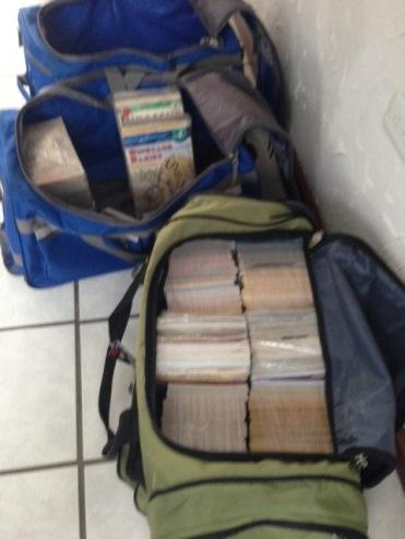 3 Duffels of Books