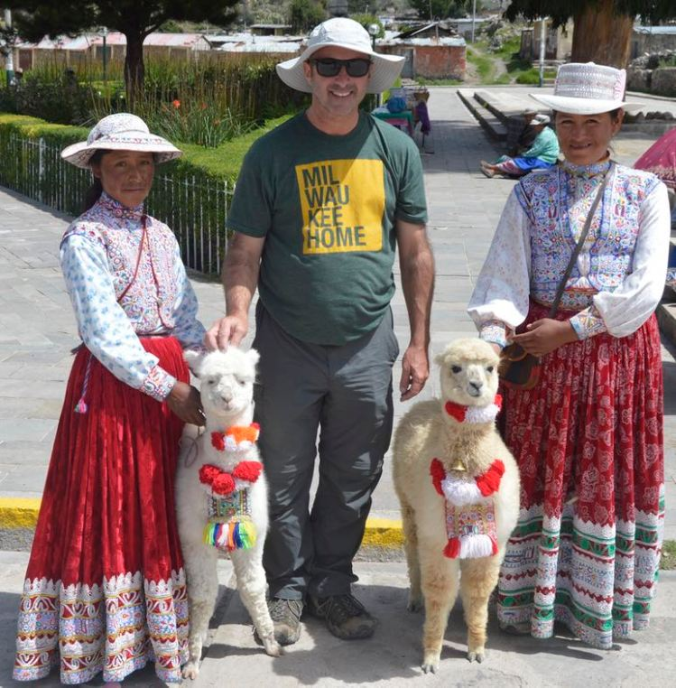 Cabana and Collagua Girls with Alpacas