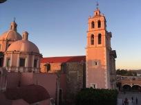Pink Church at Dusk